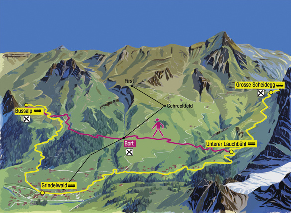 2018 Excursion >> Hiking - Excursion - Bussalp - Switzerland - Grindelwald Bus