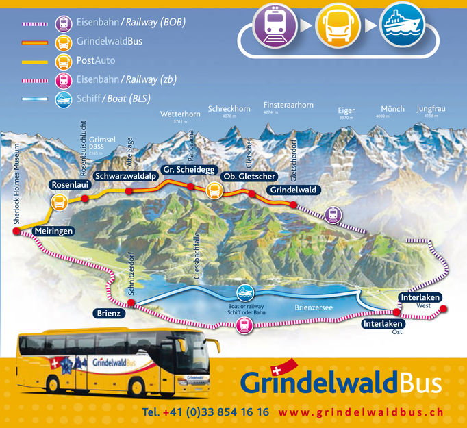 Zoom: Map | Glacial Waters Roundtrip | Grindelwald Bus
